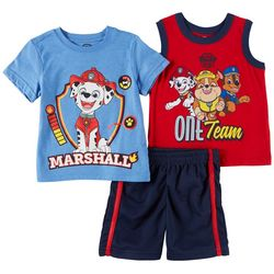 Nickelodeon Paw Patrol Baby Boys 3-pc. Marshall Shorts Set