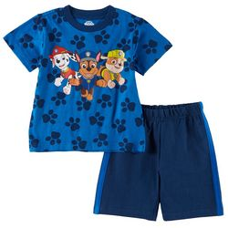 Nickelodeon Paw Patrol Baby Boys 2-pc. Paw Trio Shorts Set