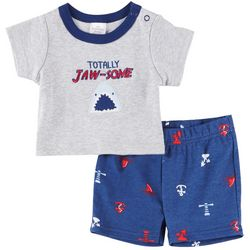 Little Beginnings Baby Boys Totally Jaw-Some Shorts Set