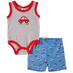 Little Beginnings Baby Boys Ready, Set, Go! Bodysuit Set