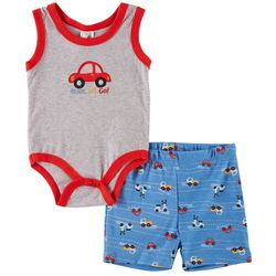 Little Beginnings Baby Boys 2-pc. Ready, Set, Go! Short Set