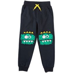 Seven Oaks Little Boys Scared Monster Bite Jogger Pants