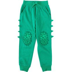 Seven Oaks Little Boys Green Scales & Spikes Jogger Pants