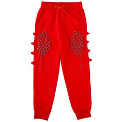 Seven Oaks Little Boys Red Scales & Spikes Jogger Pants