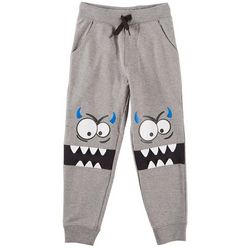 Seven Oaks Little Boys Grouchy Monster Jogger Pants