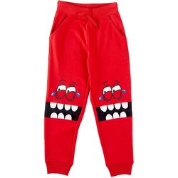 Seven Oaks Little Boys Laughing Monster Jogger Pants