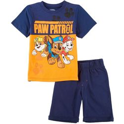 Nickelodeon Paw Patrol Little Boys Team Shorts Set