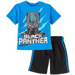 Marvel Black Panther Little Boys T'Challa Shorts Set