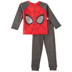 Marvel Spider-Man Little Boys Mask Jogger Pants Set