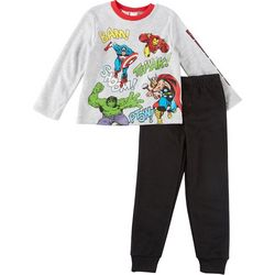 Marvel Avengers Little Boys Comic Jogger Pants Set