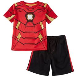 Marvel Avengers Little Boys Iron Man 2-pc. Shorts Set