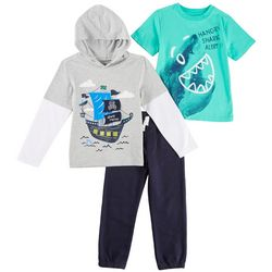 Kids Headquarters Little Boys 3-pc. Ahot Matey Hoodie Set