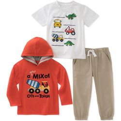 Kids Headquarters Little Boys 3-pc. Cute & Tough Hoodie Set