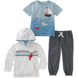 Kids Headquarters Little Boys 3-pc. Hangin' Crab Hoodie Set