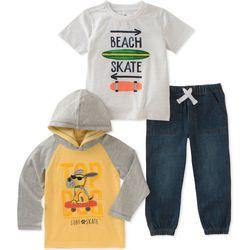 Kids Headquarters Little Boys 3-pc. Top Dog Jeans Set