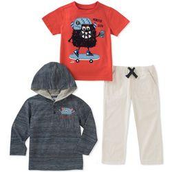 Kids Headquarters Little Boys 3-pc. Monster Selfie Pants Set