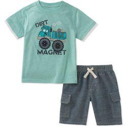 Kids Headquarters Little Boys Dirt Magnet Shorts Set