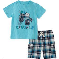 Kids Headquarters Little Boys Car Crusher Shorts Set