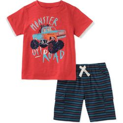 Kids Headquarters Little Boys Monster Off Road Shorts Set