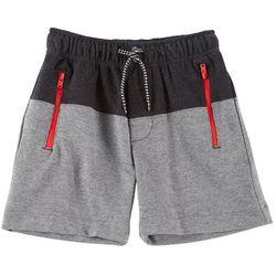 Body Glove Little Boys Blocked Terry Zipper Shorts