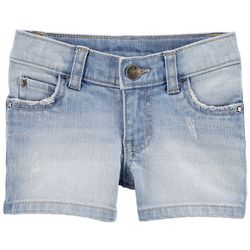 Carters Toddler Girls Americana Distressed Denim Shorts