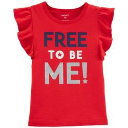 Carters Toddler Girls Free To Be Me Flutter T-Shirt