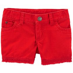 Carters Toddler Girls Americana Twill Shorts
