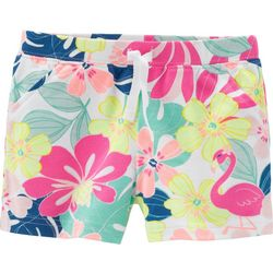 Carters Toddler Girls Floral Flamingo Shorts