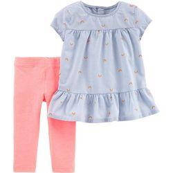 44ae6671b54b7 Carters Toddler Girls Pinstripe Rainbow Leggings Set