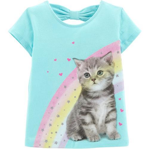 c5095467 Carters Toddler Girls Rainbow Kitten Short Sleeve T-Shirt | Bealls Florida