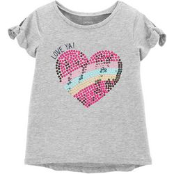 Carters Toddler Girls Love Ya Sequin Heart T-Shirt
