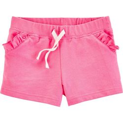 Carters Toddler Girls Solid Ruffle Pull-On Shorts