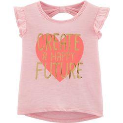 Carters Toddler Girls Create A Happy Future Heart T-Shirt