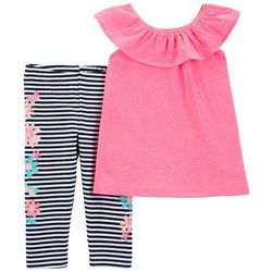 Carters Toddler Girls Stripe Floral Leggings Set