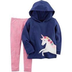 Carters Toddler Girls Unicorn Hoodie Leggings Set