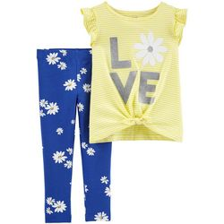 Carters Toddler Girls Love Flutter Tie Front Leggings Set