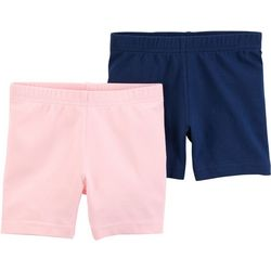 Carters Toddler Girls 2-pk. Solid Biker Shorts