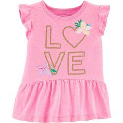 Carters Toddler Girls Love Peplum Top