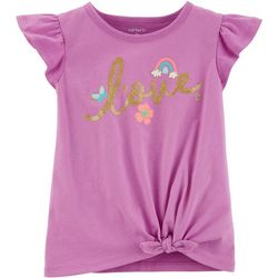 Carters Toddler Girls Love Tie Front T-Shirt