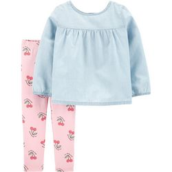 Carters Toddler Girls I'm Cherry Sweet Leggings Set