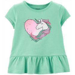 Carters Toddler Girls Magical Unicorn Love T-Shirt