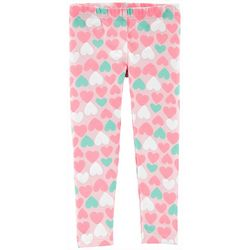 Carters Toddler Girls Heart Print Pull-On Leggings