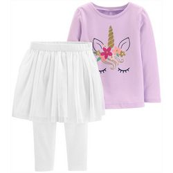Carters Toddler Girls Sparkly Unicorn Tutu Leggings Set