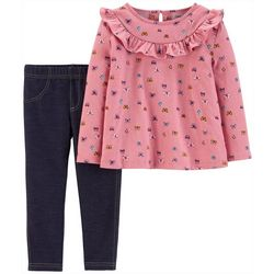 Carters Toddler Girls Butterfly Ruffle Jeggings Set