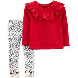 Carters Toddler Girls 2-pc. Ruffle Reindeer Leggings Set
