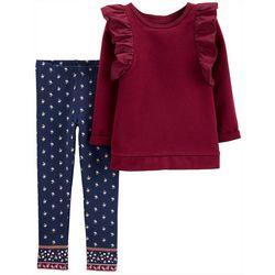 Carters Toddler Girls 2-pc. Ruffle Floral Leggings Set