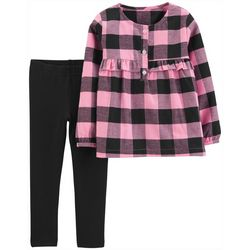 Carters Toddler Girls 2-pc. Plaid Ruffle Leggings Set