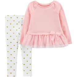 Carters Toddler Girls Heart Tutu Leggings Set