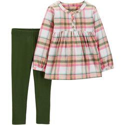 Carters Toddler Girls Plaid Tunic Leggings Set