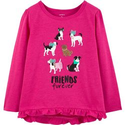 Carters Toddler Girls Friends Furever Long Sleeve T-Shirt